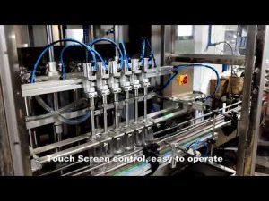 automatisk 6 hoder som dispenserer vaskemiddel klorvæske påfyllingsmaskinlinjen