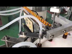 automatisk 5-30 ml glass dropper liten flaske øyedråpe hetteglass e væske fylling avdekking maskin