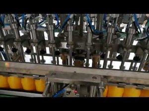 12 hoder automatisk flaskefyllingsmaskin for kosmetisk ketchupolje