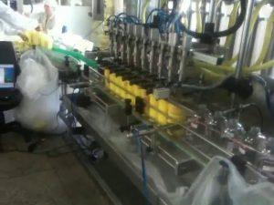 automatisk stempeldykking dyser sjampo fylling maskin
