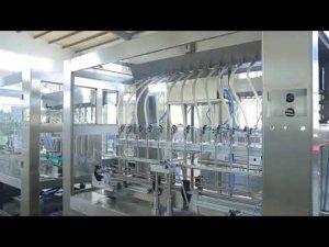 fabrikk automatisk lineær tyktflytende flytende spiselig olje flaske krukke fylling maskin